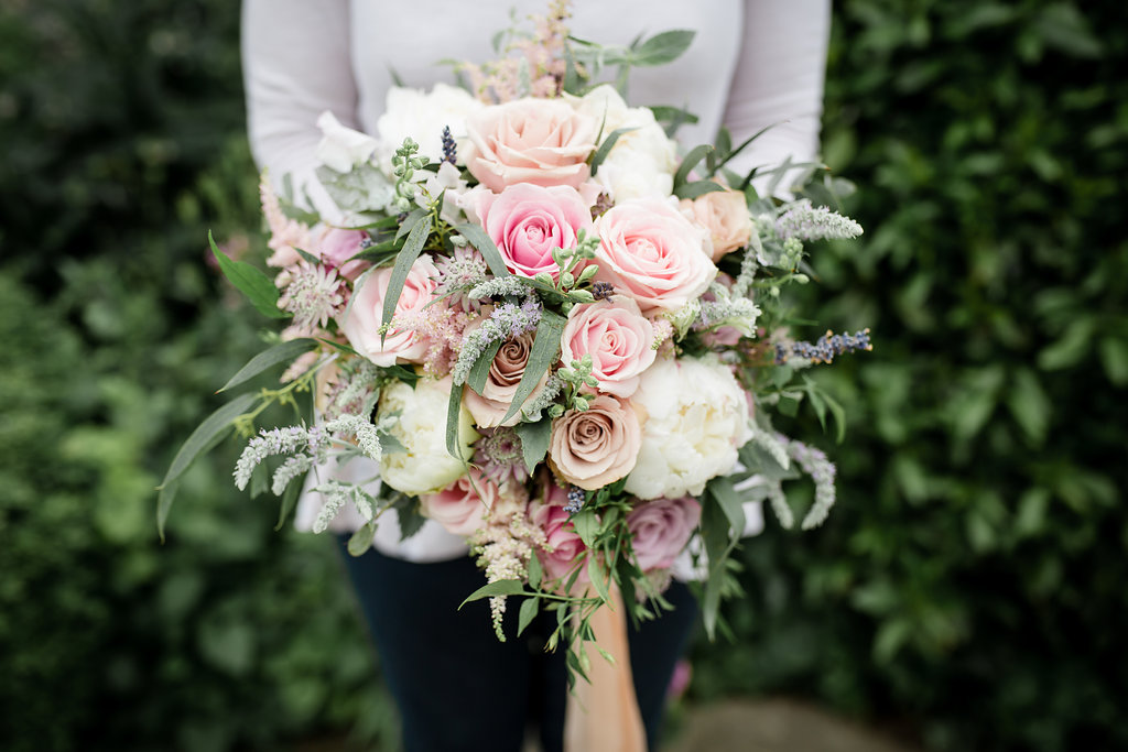 Daisy :ane Floral Design pale pink weddding bouquet