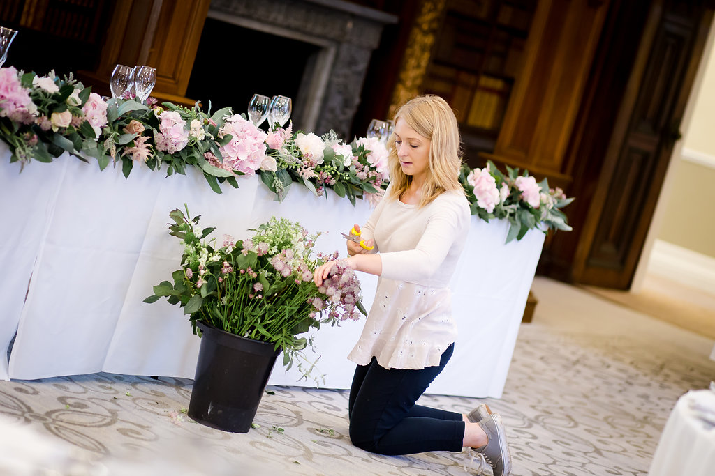 Daisy Lane Floral Design working at Clevedon Hall