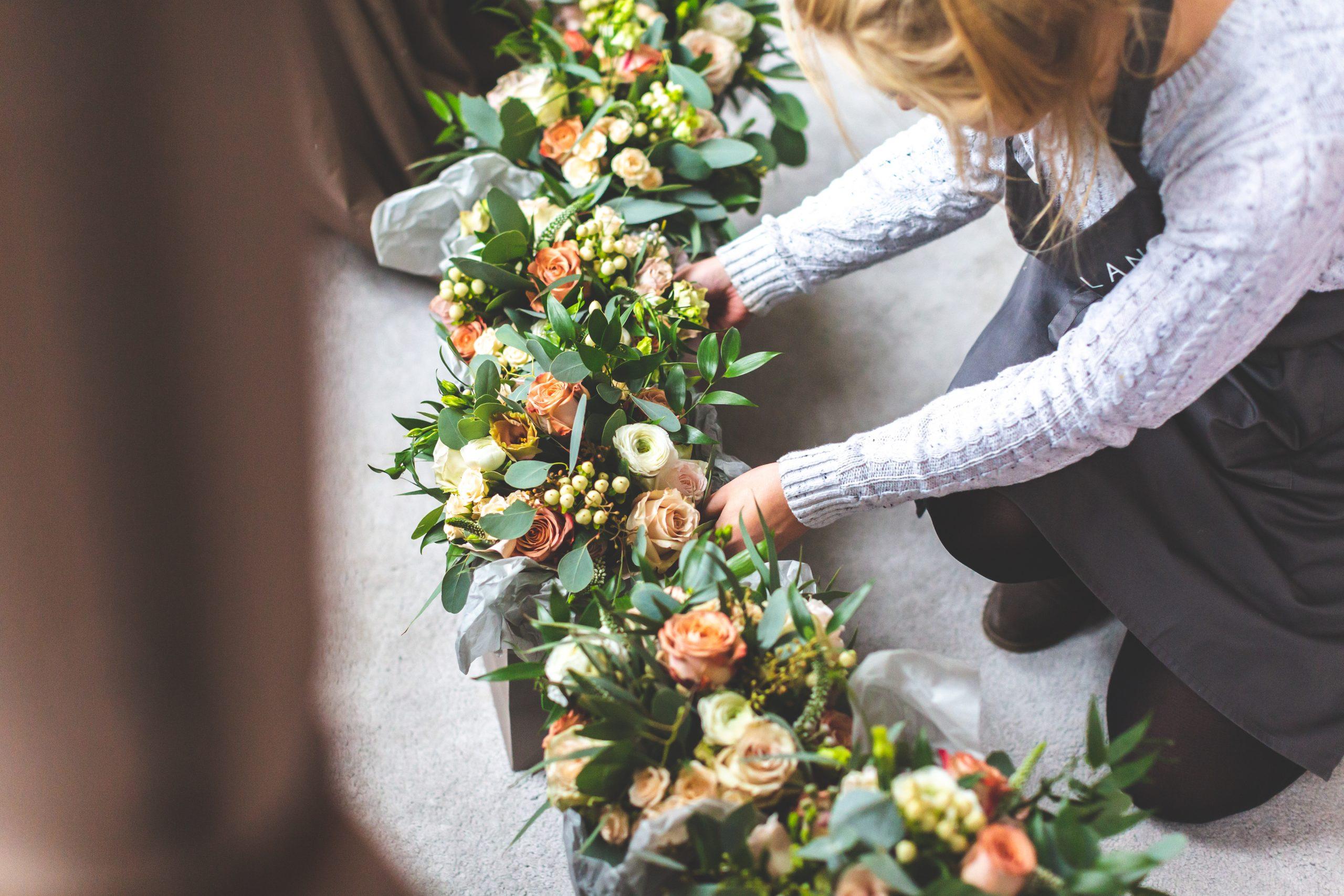 Daisy Lane Floral Design bouquets for wedding at Eastington Park