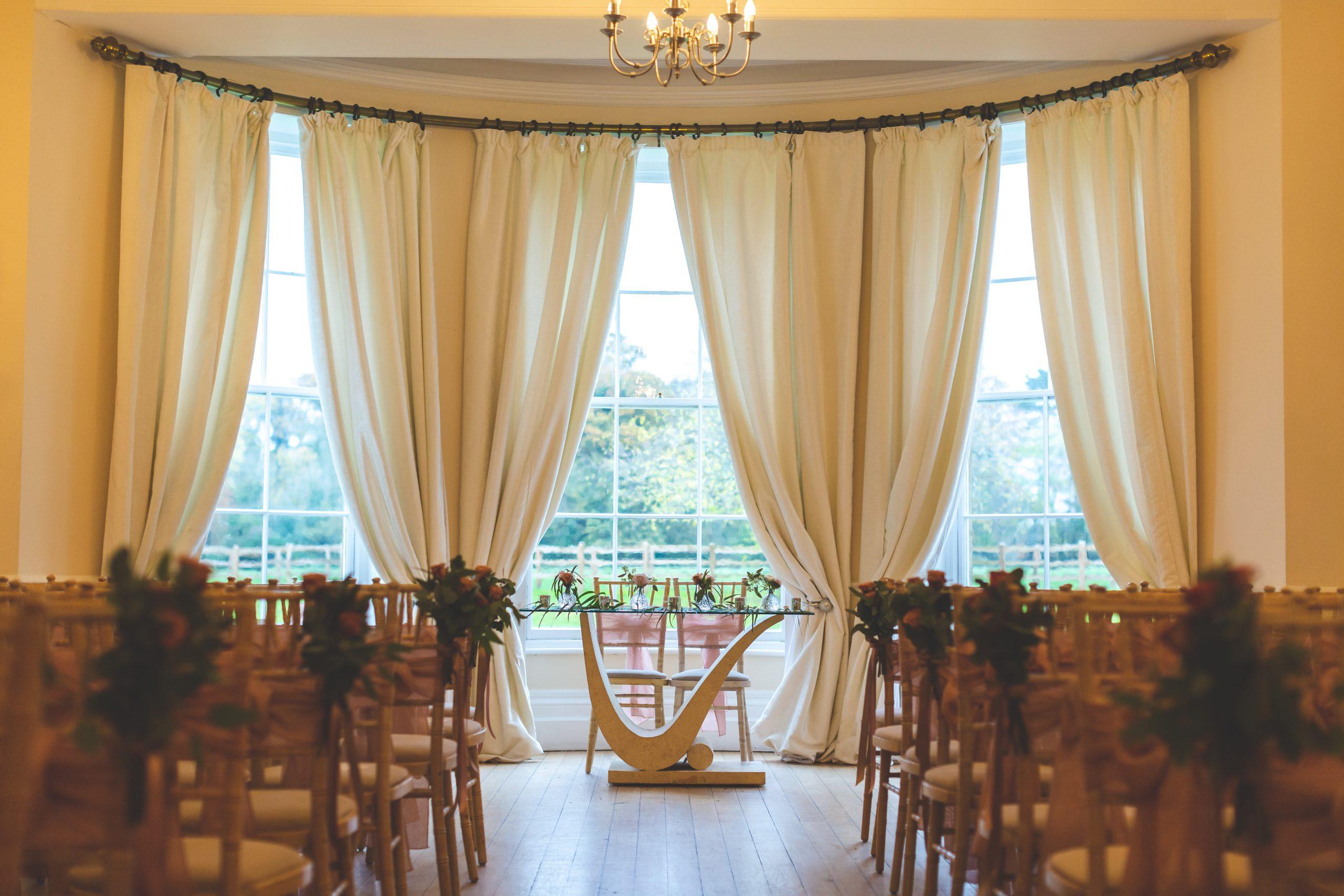ceremony room eastington park wedding