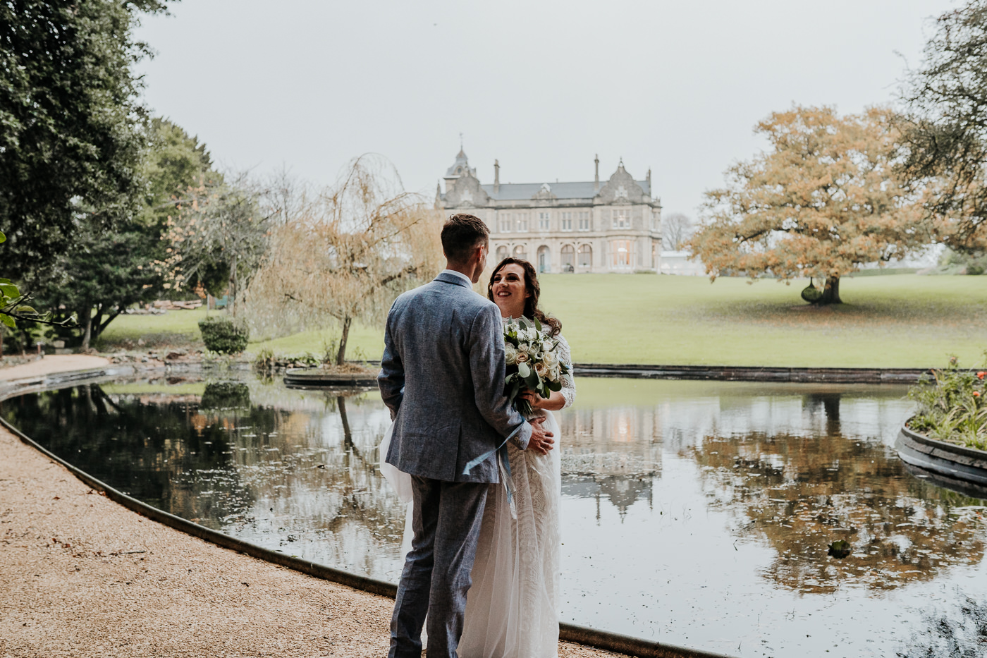 bride and groom wedding portrait Clevedon Hall near Bristol