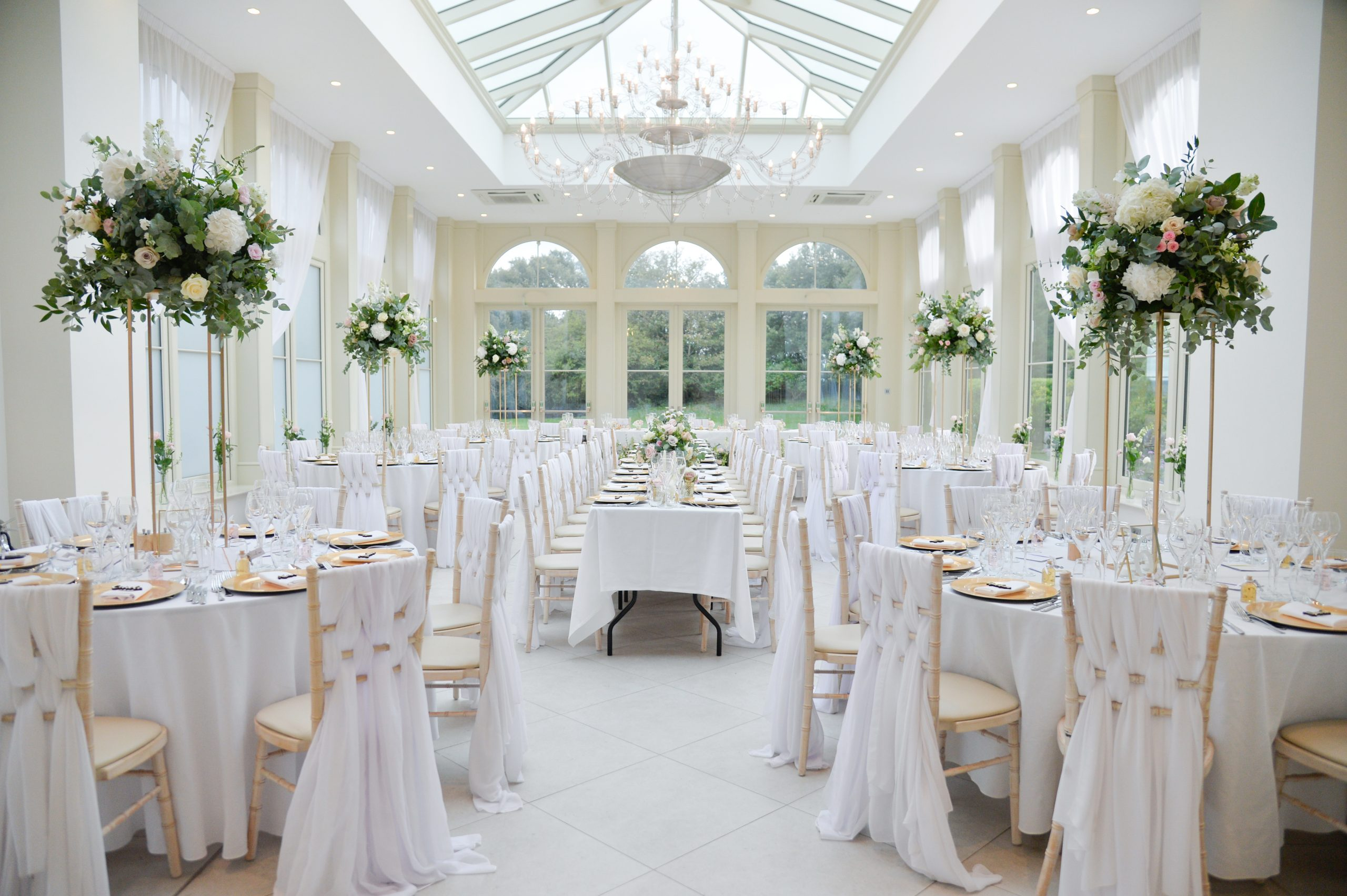 the orangery wedding breakfast Clevedon Hall