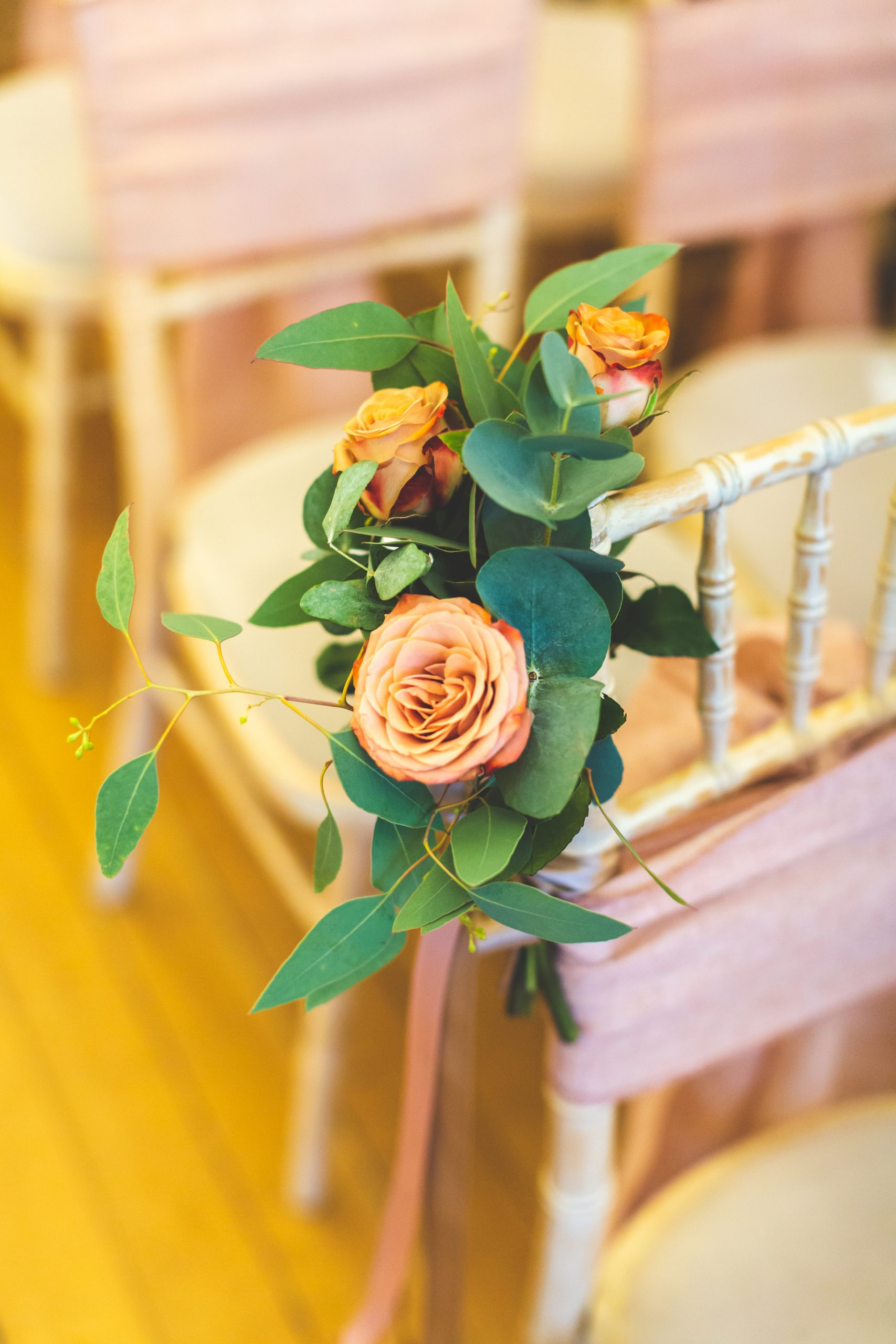 handtied posies for aisle at your wedding ceremony